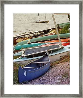 Sailboats Framed Print by Methune Hively