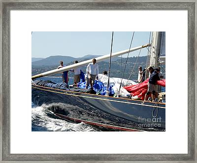 Sailboat's Panorama Framed Print by Lainie Wrightson