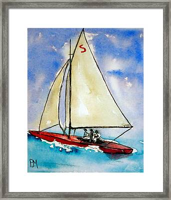 Sailin Framed Print by Pete Maier