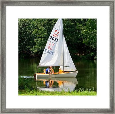 Sailing   Framed Print by Lennie Malvone