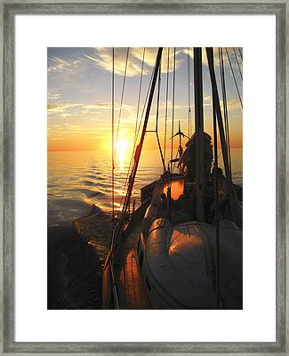 Sailing Framed Print by Anne Mott
