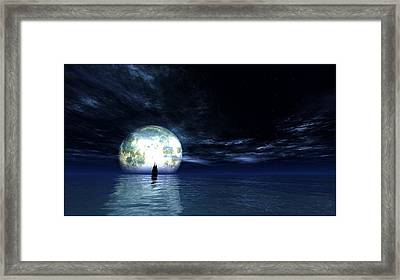 Sailing At Night... Framed Print