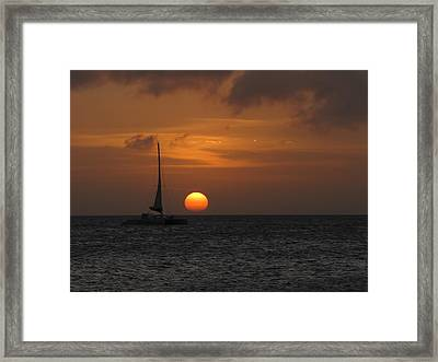Framed Print featuring the photograph Sailing Away by David Gleeson