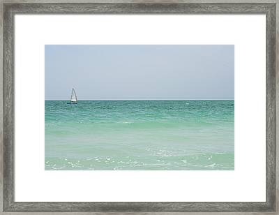 Sailing Blue Framed Print
