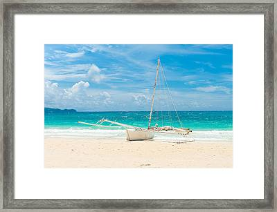 Sailing Boat Framed Print by Hans Engbers