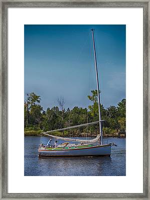 Sailing Framed Print by Christina Durity