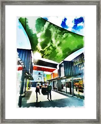 Sailing Down Cashel Mall Framed Print by Steve Taylor