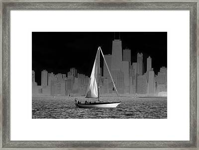 Sailing In Lake Michigan Framed Print