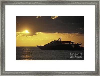 Sailing Into The Sun Cozumel Mexico Framed Print by John  Mitchell