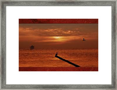 Sailing Into The Sunset Framed Print by Tom York Images