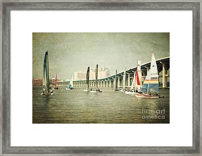 Sailing Framed Print by Joan McCool