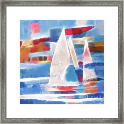 Sailing Joy Digital Framed Print by Lutz Baar