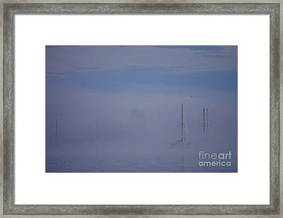 Sailing Mysterious Lake Superior Framed Print