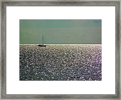 Framed Print featuring the photograph Sailing On A Sea Of Diamonds by William Fields