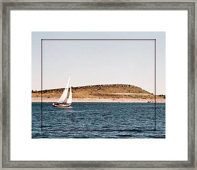 Framed Print featuring the photograph Sailing On Carter Lake by David Pantuso