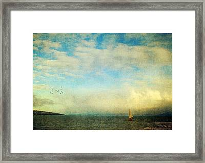 Framed Print featuring the photograph Sailing On The Sea by Michele Cornelius