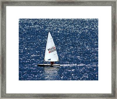 Framed Print featuring the photograph Sailing by Patrick Witz