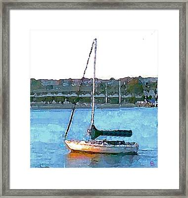 Sailing Framed Print by Paula Greenlee