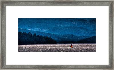 Sailing Priest Lake Framed Print by David Patterson