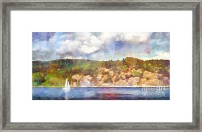 Sailing Seascape Impression Framed Print by Lutz Baar