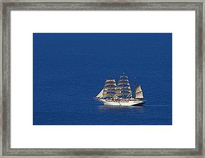 Framed Print featuring the photograph Sailing Ship- St Lucia by Chester Williams