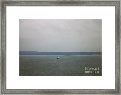 Sailing The Barnegat Framed Print by Thomas Luca