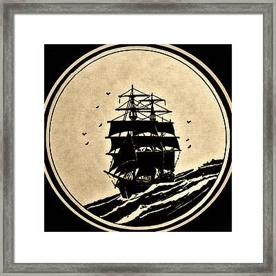 Sailing Vessel Framed Print by Susan Leggett