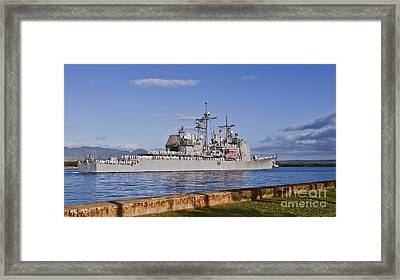 Sailors Aboard The Guided-missile Framed Print