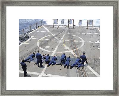 Sailors Fire M4a1 Carbine Assault Framed Print by Stocktrek Images