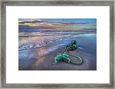 Sailor's Knot Framed Print by Debra and Dave Vanderlaan