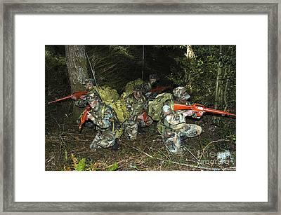 Sailors Take Part In Combat Training Framed Print by Stocktrek Images