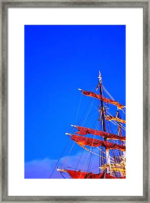 Sails Framed Print by Barry R Jones Jr