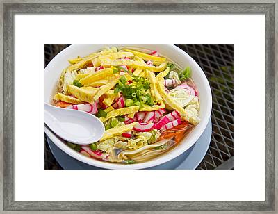 Saimin Bowl Framed Print