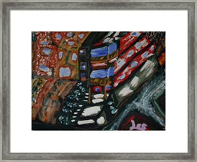Framed Print featuring the painting Saint 27th by Leslie Byrne