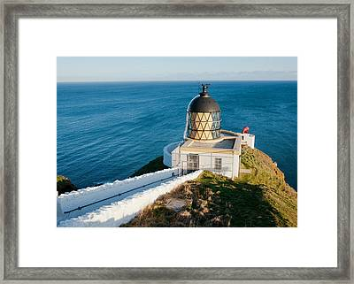 Saint Abb's Head Lighthouse And Foghorn Framed Print
