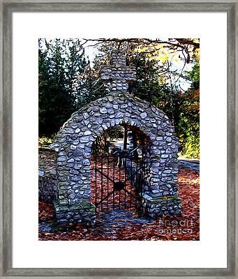 Framed Print featuring the photograph Saint Ann Cemetery by Anne Raczkowski