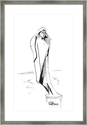 Saint Anthony Framed Print by Kev Moore