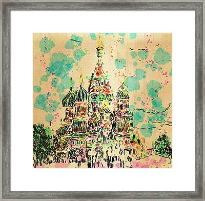 Saint Basilic In Moscow Framed Print