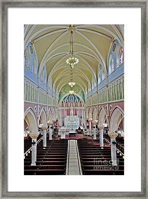 Saint Bridgets Gothic Church Framed Print by Susan Candelario