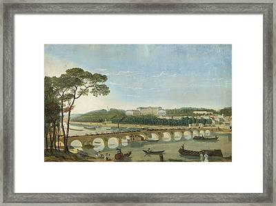 Saint-cloud During The Visit Of King Francois I, France, 1830 Framed Print by Photos.com