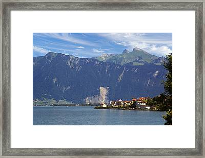 Framed Print featuring the photograph Saint-gingolph by Rod Jones