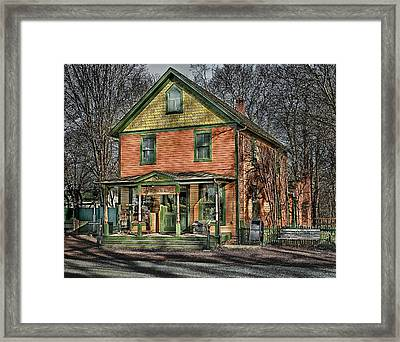 Saint James General Store Framed Print
