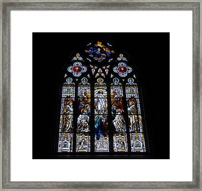 Saint Johns Stained Glass Framed Print by David Lee Thompson