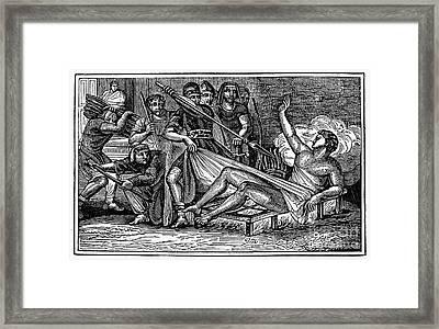 Saint Lawrence (c225-258) Framed Print