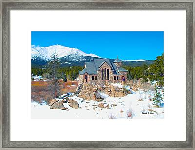 Framed Print featuring the photograph Saint Malo Winter by Stephen  Johnson
