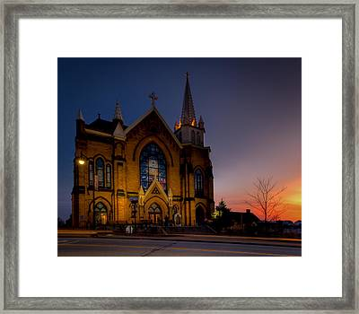 Saint Mary Of The Mount II Framed Print by David Hahn
