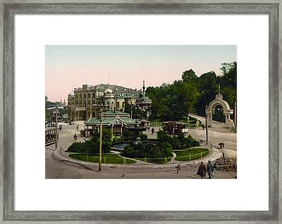 Saint Michael Monastery In Kiev - Ukraine - Ca 1900 Framed Print