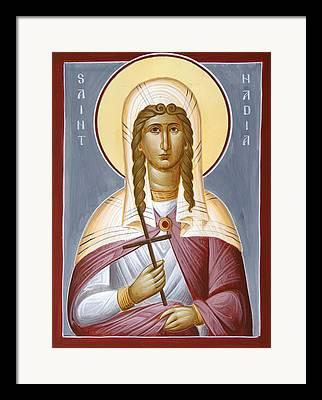 Saint Nadia Framed Prints
