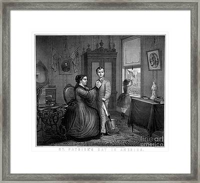 Saint Patricks Day In America, 1872 Framed Print