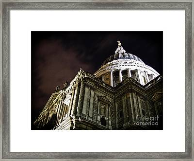 Saint Paul's Cathedral At Night Framed Print by Thanh Tran